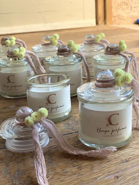 bougies parfumées fleur de coton