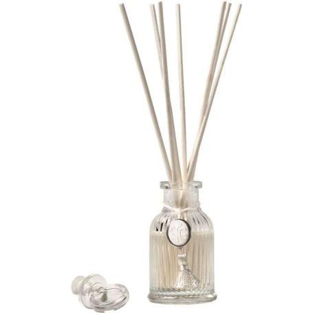 une mini bouteille de diffuseur de parfum d'ambiance intemporel 80ml mathilde avec sept bâtonnets