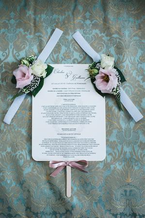 livret messe en eventail pour mariage ou bapteme detail