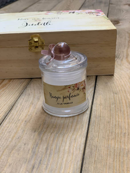 bougie parfumée à coffret cadeau