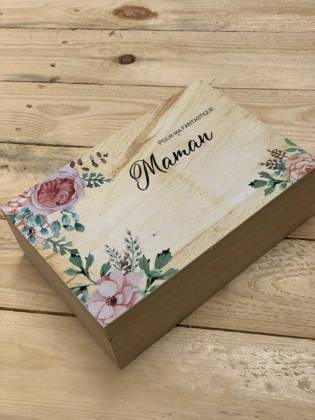 détail couvercle coffrets à cadeaux à offrir fête des mères
