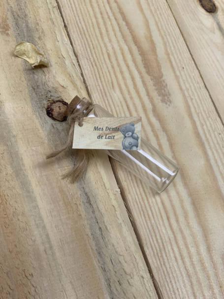 tube pour dents de lait pour coffret cadeau de naissance