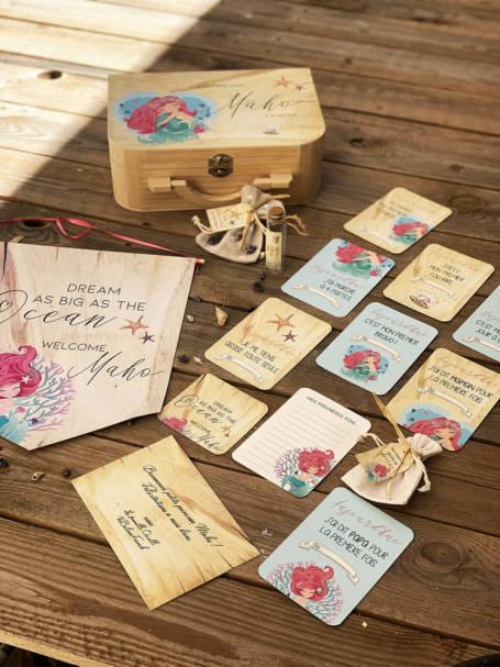 cartes étapes cadeau de naissance avec valise