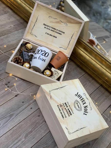 coffret cadeau en box en bois