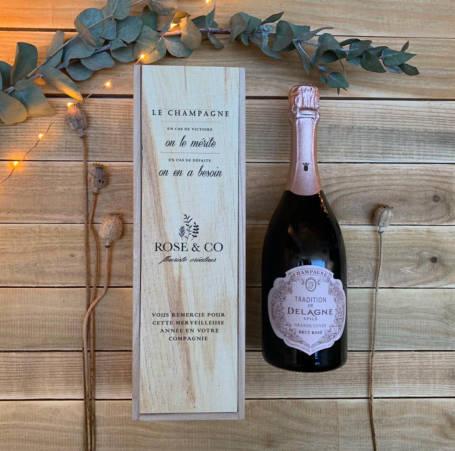 coffret cadeau comité d'entreprise, fêtes de pères ou de fin d'année champagne