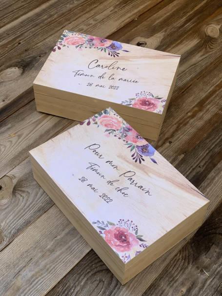 box cadeau marraine de mariage ou baptême